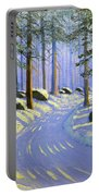 Winter Landscape Study 1 Portable Battery Charger