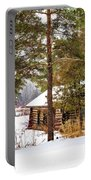 Winter Log Cabin 3 - Paint Portable Battery Charger