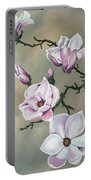 Winter Magnolia Blooms Portable Battery Charger