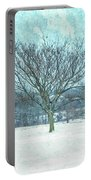 Winter Mimosa Painterly Portable Battery Charger