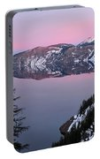 Winter Mirror At Crater Lake Portable Battery Charger