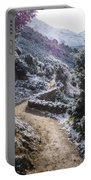 Winter Mountain Path Portable Battery Charger