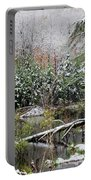 Winter On The Beaver Pond Portable Battery Charger