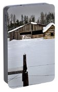 Winter On The Ranch Portable Battery Charger