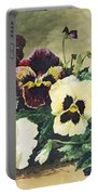 Winter Pansies Portable Battery Charger