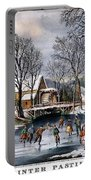 Winter Pastime, 1870 Portable Battery Charger