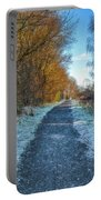 Winter Path In Scotland Portable Battery Charger