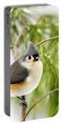 Winter Pine Bird Portable Battery Charger
