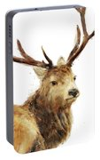 Winter Red Deer Portable Battery Charger