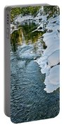 Winter River Reflections - Yellowstone Portable Battery Charger