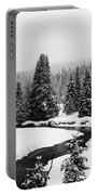 Winter Riverscape Portable Battery Charger