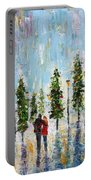 Winter Romance Portable Battery Charger