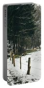 Winter Rural Pathway Portable Battery Charger