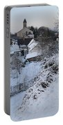 Winter Scene In North Wales Portable Battery Charger