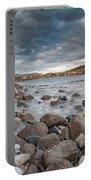 Winter Sea In Porto Frailis Portable Battery Charger