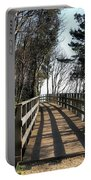 Winter Shadows At The Bridge Portable Battery Charger