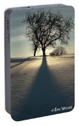 Winter Silhouette Portable Battery Charger