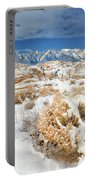 Winter Snowstorm Blankets The Alabama Hills California Portable Battery Charger