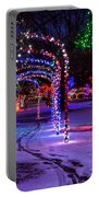 Winter Spirit At Locomotive Park Portable Battery Charger