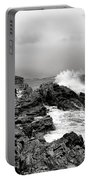 Winter Storm At Portland Head Portable Battery Charger