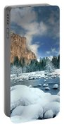 Winter Storm In Yosemite National Park Portable Battery Charger