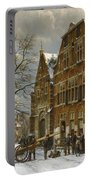 Winter Street Scene. Oudewater Portable Battery Charger