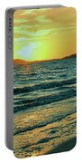Winter Sunset At Wellfleet Harbor Portable Battery Charger