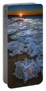 Winter Sunset On Fire Island Portable Battery Charger