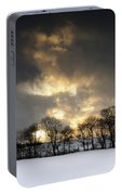 Winter Sunset, Trough Of Bowland, England Portable Battery Charger