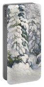 Winter Tale Portable Battery Charger by Aleksandr Alekseevich Borisov