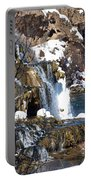Winter Time At The Falls Portable Battery Charger