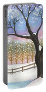 Winter Tree Landscape Portable Battery Charger