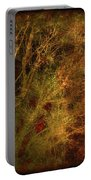 Winter Trees In Gold And Red Portable Battery Charger