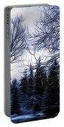 Winter Trees In Sweden Portable Battery Charger