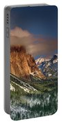 Winter Tunnel View Yosemite National Park  Portable Battery Charger