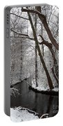 Winter Walk In The Woods Portable Battery Charger