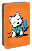 Winter Westie With Lime Portable Battery Charger