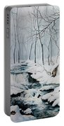 Winter Whispers Portable Battery Charger