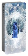 Winter Woman Portable Battery Charger