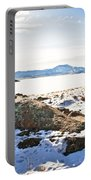 Winter's Silence - Pathfinder Reservoir - Wyoming Portable Battery Charger