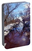 Wintertime In Necedah  Portable Battery Charger