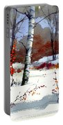 Wintertime Painting Portable Battery Charger