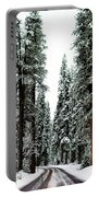 Wintry Forest Drive Portable Battery Charger