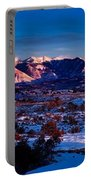 Wintry Sunset Glow  Portable Battery Charger