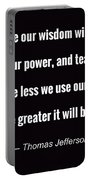 Wisdom Will Grow Portable Battery Charger