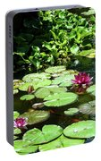 Wishes Among The Water Lilies Portable Battery Charger