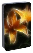 Wispy Lilies Portable Battery Charger