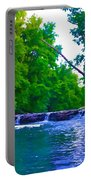 Wissahickon Waterfall Portable Battery Charger by Bill Cannon
