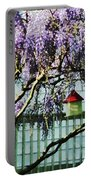 Wisteria And Birdhouse Portable Battery Charger