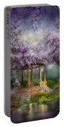 Wisteria Lake Portable Battery Charger by Carol Cavalaris